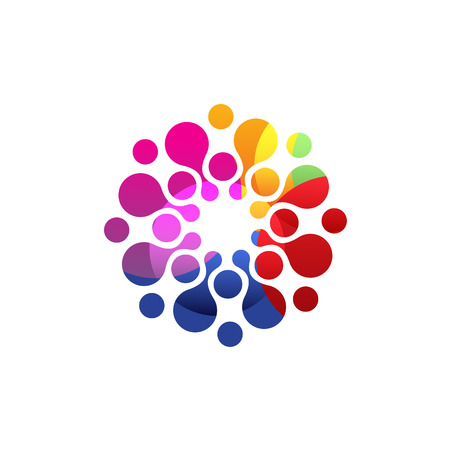 designed: Digital colorful  . Vector isolated circle Illustration