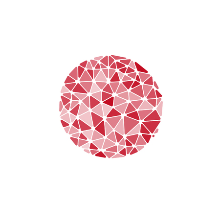 glass sphere: Isolated vector round. Abstract composition, polygonal construction, connecting dots and lines, space background,