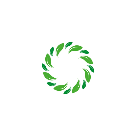 gyration: Organic isolated vector green circle Illustration