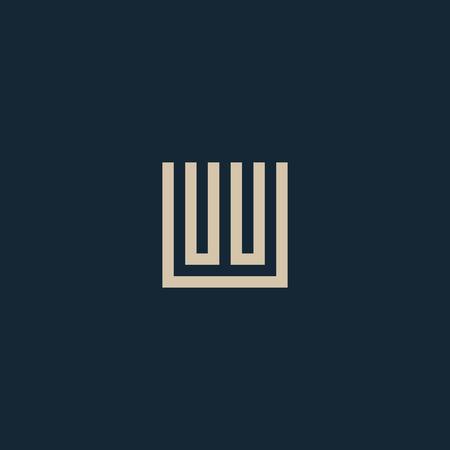 Unusual geometric letter W.