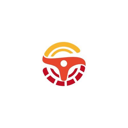 car speed: Wheel logo. Vector orange logo. Car logo. Taxi logo. Speedometer icon. Speed logo. Racing logo. Turn logo.Rally logo. Drift logo. Speed logo. Wheel icon. Car icon. Auto logo.Taxi icon.Speedometer logo Illustration