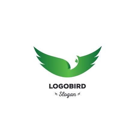 spread wings: Fun, beauty, isolated, cartoon, geek eagle flies spread wings, oval vector shape, minimal, flat