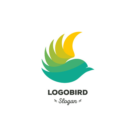 Fun, beauty, isolated, cartoon, geek tit demonstrates feathers, triangular vector shape, minimalism stilish stylized