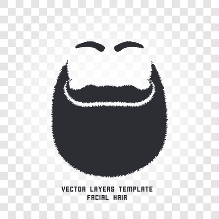 style goatee: Isolated male face silhouette with mustache and beard vector logo. Men barber shop emblem. Hairdresser logotype. Shaving machine and cosmetics label. Gentlemen beauty salon icon.