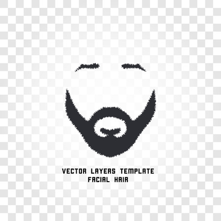 male grooming: Isolated male face silhouette with mustache and beard vector . Men barber shop emblem. Hairdresser . Shaving machine and cosmetics label. Gentlemen beauty salon icon.