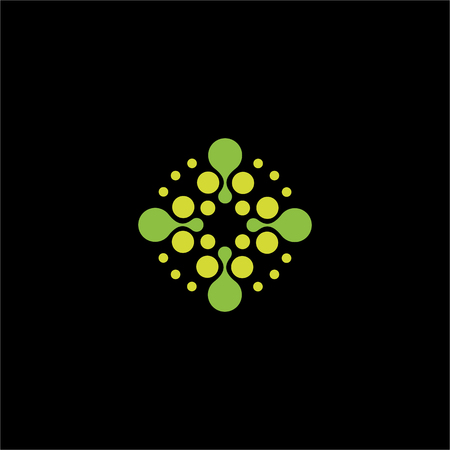 arithmetic: Isolated abstract green color dotted cross vector . Medical . Ambulance and hospital icon. Arithmetic plus sign
