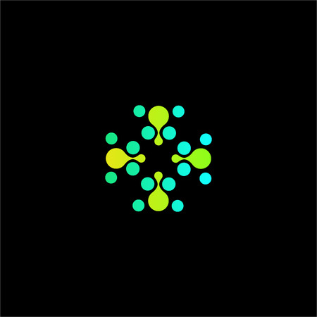 green plus: Isolated abstract green color dotted cross vector . Medical . Ambulance and hospital icon. Arithmetic plus sign