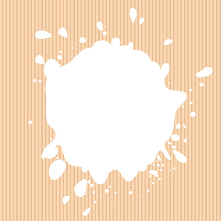 blotch: Isolated white color blotch vector logo. Milk logotype. Paint stain illustration on the pink background Illustration