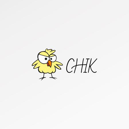 nestling: Cartoon logo, icon template. Chik design, nestling icon. Logo vector. Logo template. Chickabiddy design. Chickabiddy template. Logo abstract design. Modern stylized logo