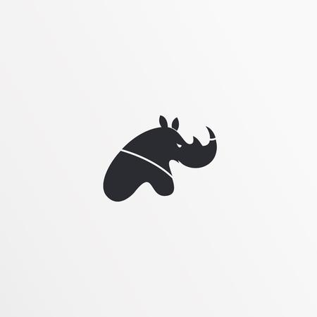 rhino vector: Flat style logo, icon template. Rhinoceros design, rhino icon. Logo vector. Logo template. Rhinoceros design. Rhino template. Logo abstract design. Modern stylized logo