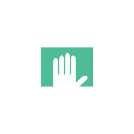 hi five: Hand logo. Hand isolated on white background. Hand vector icon illustration. Hand isolated vector. Hand flat Illustration