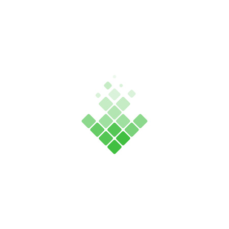 torrent: Download Icon. Green arrow. Logo of translucent lozenges. Download geometric logo