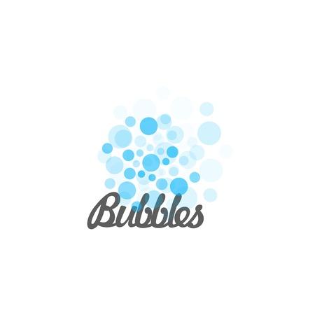 Azul vector burbujas aisladas. Ilustración del vector. logotipo inusual abstracto. burbujas de agua. globos logo