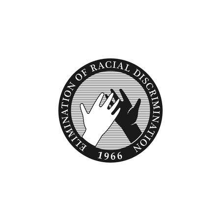 logo handshake: Crossed fingers vector logo. Unification and cooperation symbol. Hands black logo. Handshake icon Illustration