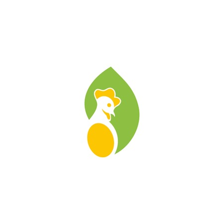poultry farm: Logo poultry farm. Vector chicken eggs icon