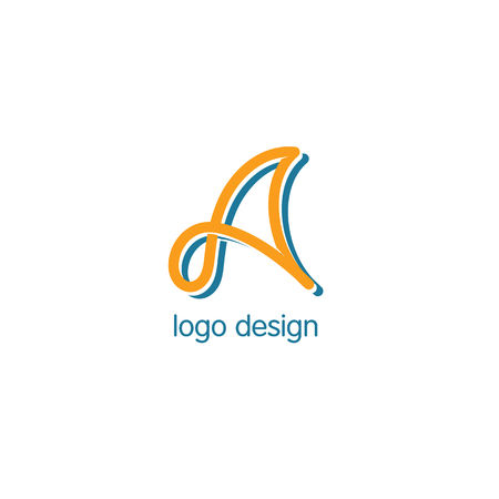 lineart: Vector letter A. Unusual lineart monogram. Abstract logotype Illustration