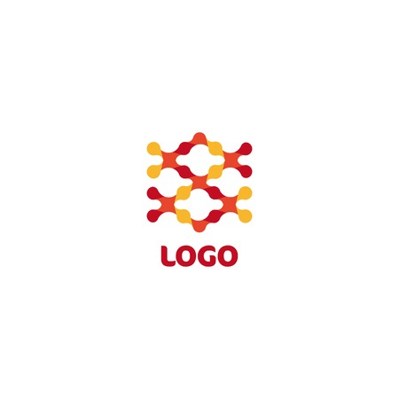 abstract shape: Abstract shape logo. Science logotype. Chemistry sign