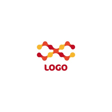 Abstract shape logo. Science logotype. Chemistry sign