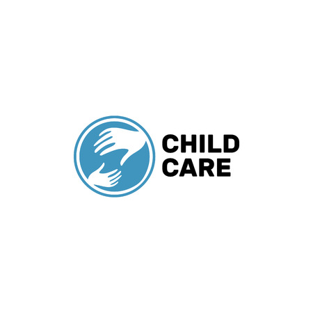 mutual assistance: Abstract hand design sign. Vector love children logo. Hands logo. Hand icon. Hope symbol. Help and support those in need Illustration