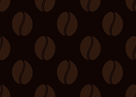 cafe latte: Isolated abstract coffee beans seamless texture. Morning drink background. Cafe wallpaper interior design. Vector coffee illustration. Energetic beverage backdrop. Latte, espresso,americano sign
