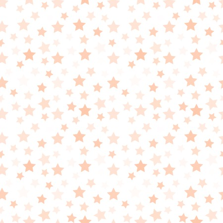 pink wallpaper: Isolated pale pink color stars on the white background pattern. Decorative kids bedroom wallpaper. Sky element backdrop. Festive wrapping paper. Vector illustration.