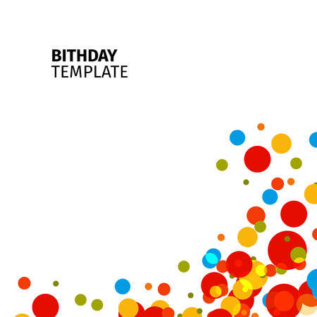 freshness: Isolated abstract colorful bubble background. Festive birthday backdrop. Celebration wallpaper. Kids surprise party decoration. Vector stylized balloons illustration