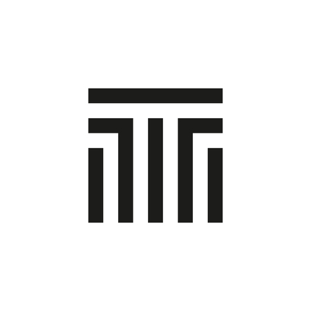 Unusual geometric letter T. Architecture  logo. Isolated monogram