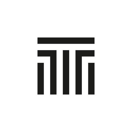 Unusual geometric letter T. Architecture  logo. Isolated monogram