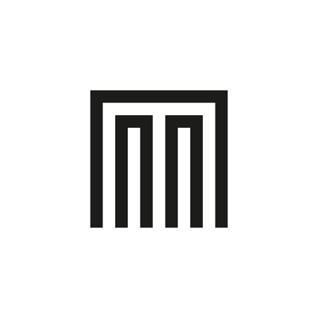 Unusual geometric letter M. Architecture  logo. Isolated monogram