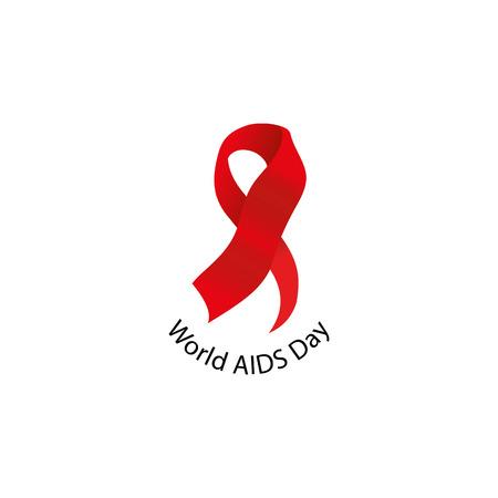 relaciones sexuales: conciencia de la enfermedad cinta roja aislado. concepto del Día Mundial del Sida. Detener el icono de virus. campaña de apoyo internacional a las personas enfermas. ilustración vectorial