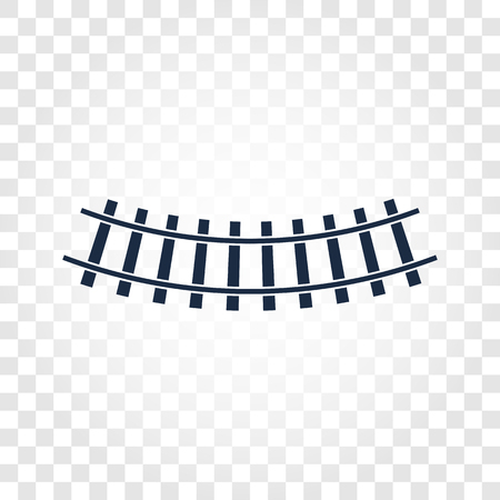 siding: Isolated rails, railway top view, ladder elements illustrations on checkered gradient background