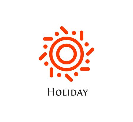 Forme ronde abstrait isolée logo couleur orange, logo vectoriel logotype soleil