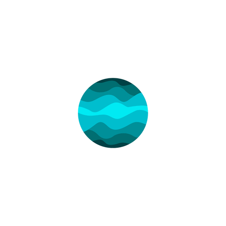 fresh idea: Isolated abstract blue color round shape logo on white background, water vector illustration