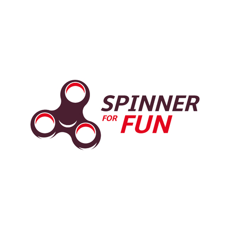 Spinner design. Bearing cool modern device icon. Entertaining gaming simple mechanism for fan, soothing. vector illustration Illustration