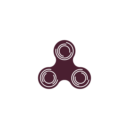 Spinner logo design. Bearing cool modern device icon. Entertaining gaming simple mechanism for fan, soothing. vector illustration eps10.