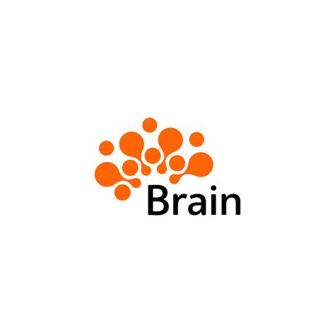 Brain Logo silhouette design vector template. Think idea concept.Brainstorm power thinking brain Logotype icon Logo