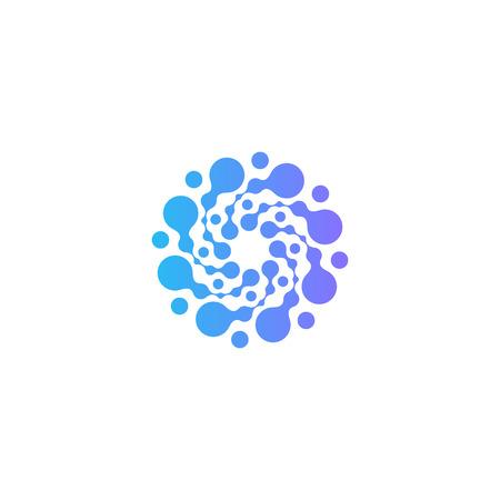 Circles vector icon. Freezer abstract icon .Cold air modern symbol.