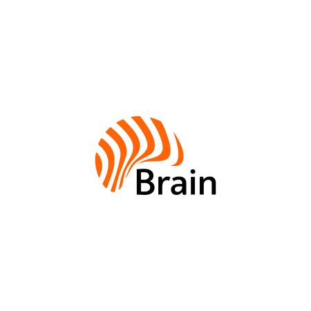 Brain icon silhouette design vector template. Think Idea concept. Brain storm power thinking e icon. Isolated abstract unusual creative digital brainstorming idea symbol