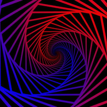 Resumen cósmico, torciendo las líneas de fondo. Nano estructura de la tecnología, efectos visuales Foto de archivo - 85761595