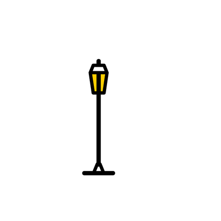 moderm: Outline streetlight icon. Isolated parks design element vector illustration on white background in lineart new moderm style Illustration
