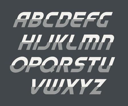 Alphabet lettering. Ilustrace