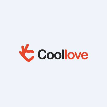 Love red heart icon. Ok symbol, Okay vector logo.