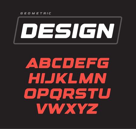 Conception de l'alphabet géométrique gras italique. Modèle de police de vecteur de jeu de sport.
