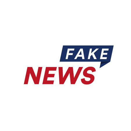 Fake sport news heading text. Breaking news place pin. False broadcast vector illustration.
