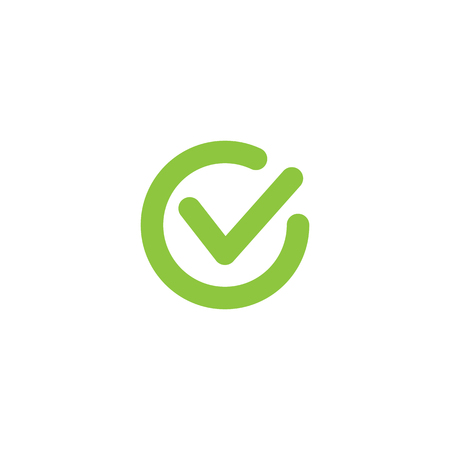 Tick. Approved linear sign. Okay web symbol. Isolated green simple vector icon. Accept info-graphic element, UIUX icon design.