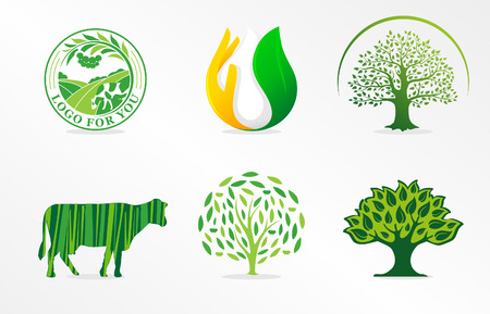 Symbol of dairy products. Natural product. Organic food illustration. Illustration