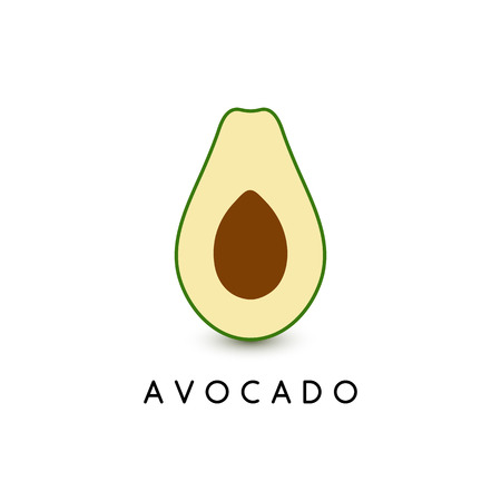 Avocado 3D vector illustration template, vector icon, modern logo design. Fruit food green illustration on black background.