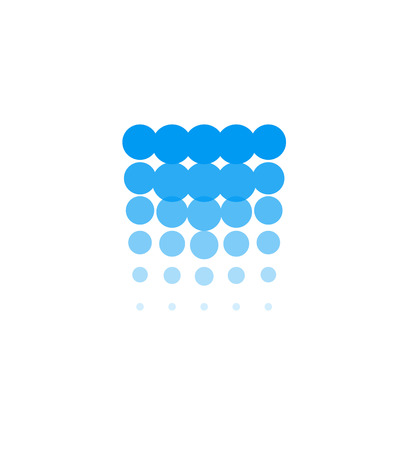 Waterfall icon, water abstract logo template, blue bubbles, hydroelectric power station, vector illustration on white background 向量圖像