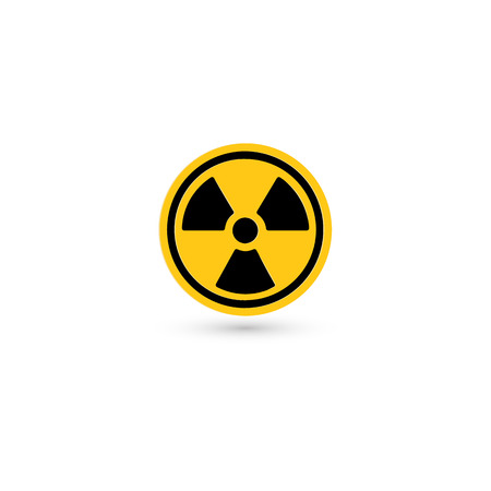 Toxic vector icon. Radiation pictogram. Biohazard Warning symbol. Simple isolated chemical logo Imagens - 117068027