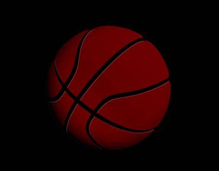Sport-Symbol. Basketballball, einfache flache Vorlage. Modernes Emblem für Sportnachrichten oder Team. Isolierte Vektor-Illustration.